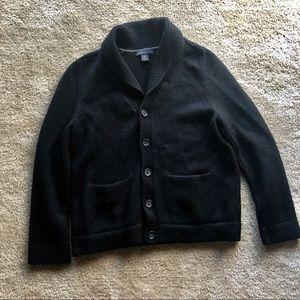 Banana Republic Black Cardigan Sweater: Large